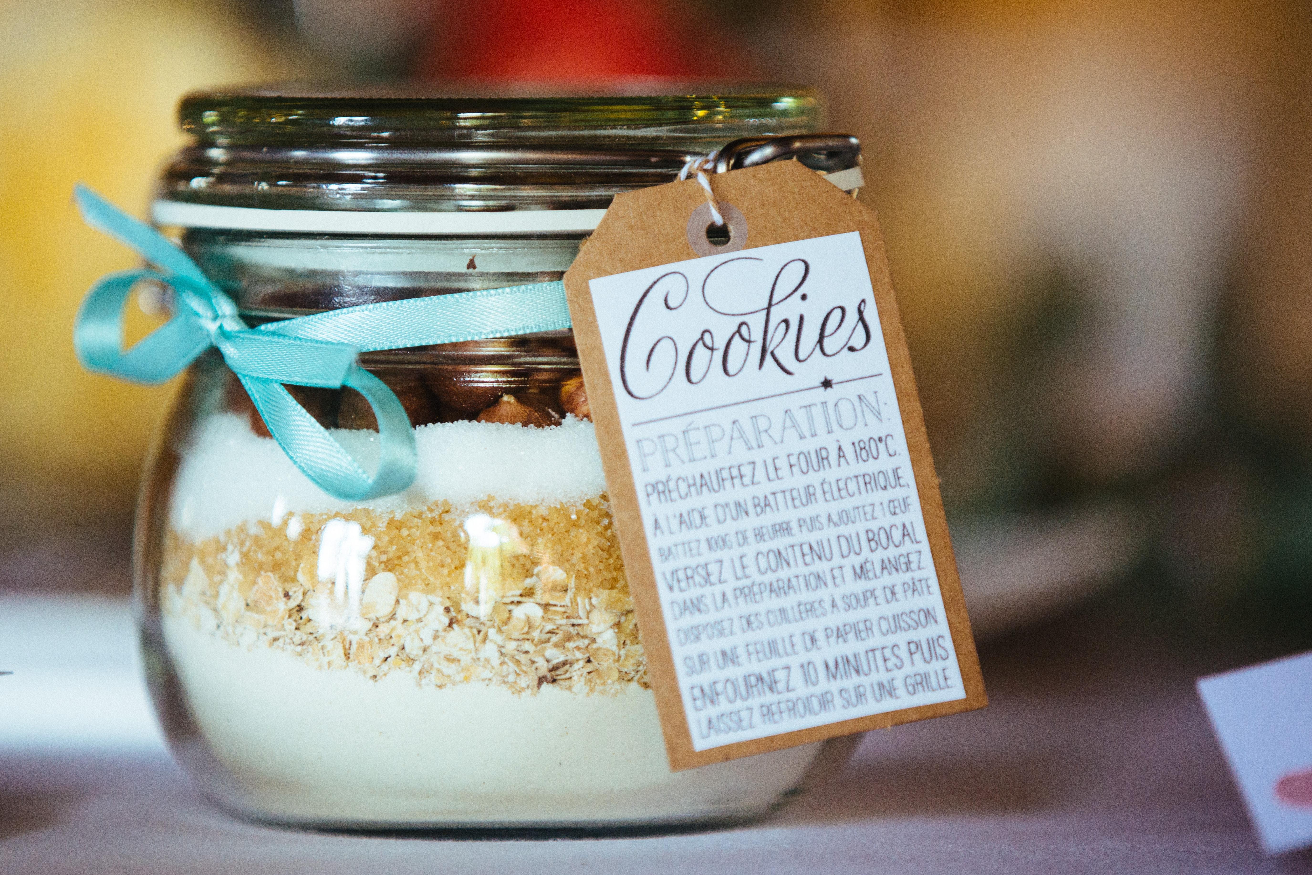 décoration de mariage orange - cadeaux des invités - kit à cookies