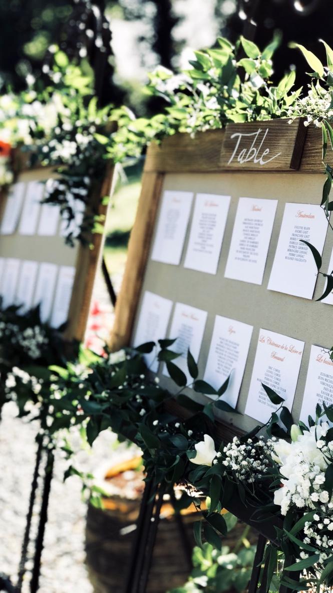 Plan de table sur-mesure, déco de mariage champêtre, mariage Lyon
