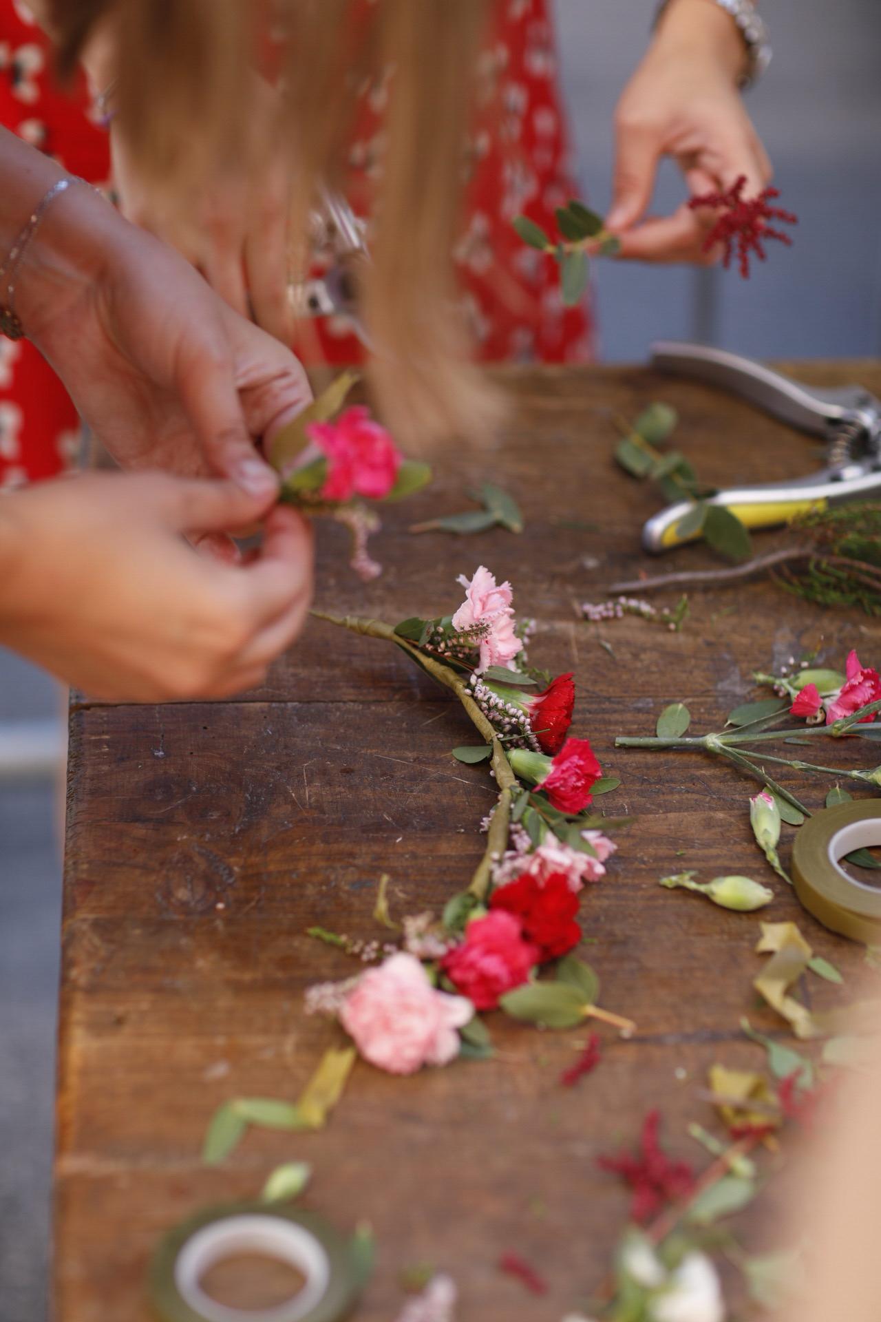 Atelier couronne de fleurs à Lyon
